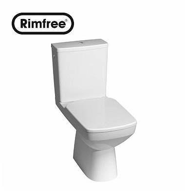 Kompakt-WC mit horizontalem Abfluss KOLO Nova Pro RIMFREE rechteckig M33223000