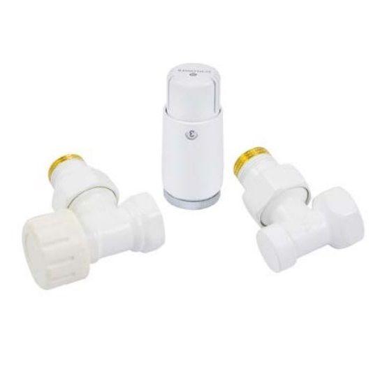 Heizkörperset Thermostatventil Eck + Thermostatkopf MINI SCHLÖSSER 602200056