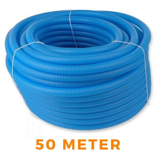 Wellrohr 50M Leerrohr für Fußbodenheizung Blau 18mm