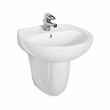 Waschbecken mit Überlauf-System KOLO Idol 55cm weiß M11055