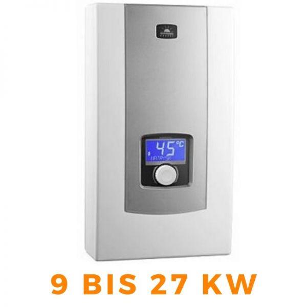 Vollelektronischer Durchlauferhitzer KOSPEL PPE2 mit LCD-Display Leistungsstufen 9 bis 27kW