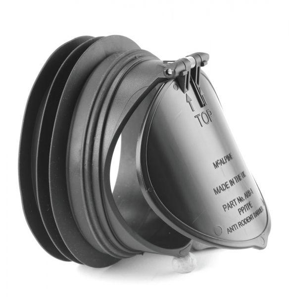 Rattenklappe für WC Mcalpine ARB-1 WC Rückflussabdeckung Abflussrohrklappe Nagetiersperre