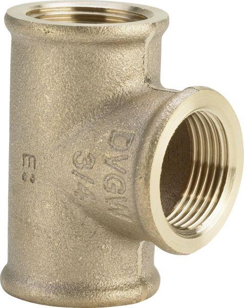 VIEGA Rotguss T-Stück mit Innengewinde 3/4 Zoll und 1 Zoll