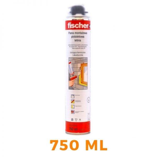 1 x FISCHER Pistolenschaum PUP 750 ml - Montageschaum Bauschaum - 53145