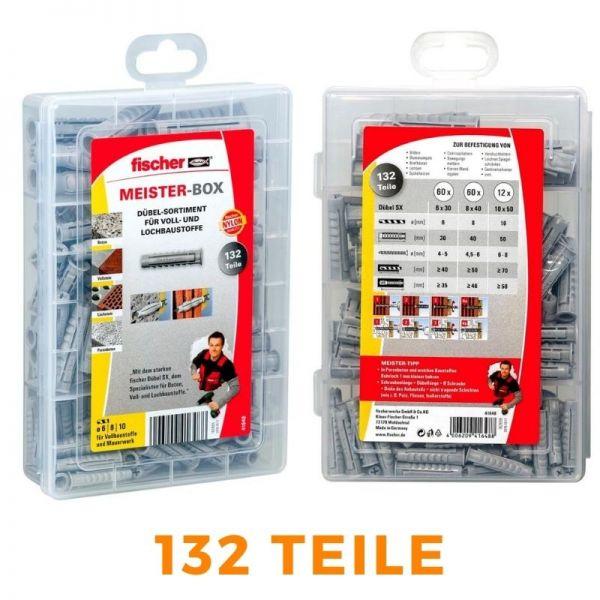 FISCHER Meister-Box 132 Teile Dübelsortiment SX-Box 6/8/10 - 41648