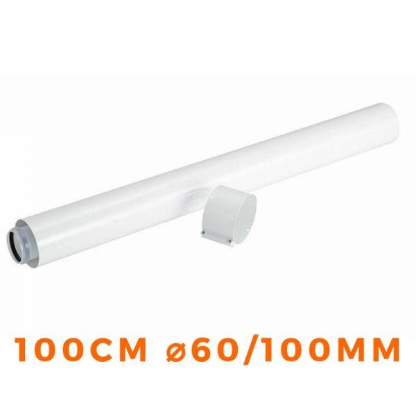 Verlängerungrohr konzentrisch VAILLANT 60/100mm Abgaskamin - 303903