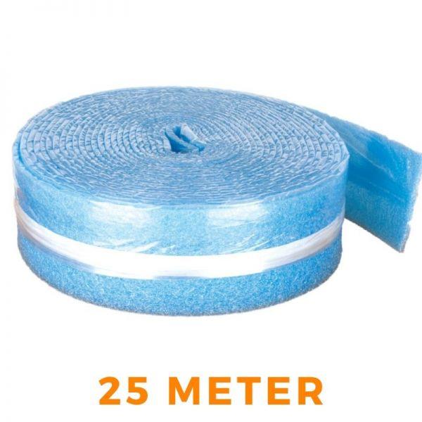Randdämmstreifen Dilatation selbstklebend für Fußbodenheizung - blau 150x8mm 25m