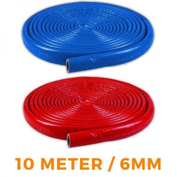 6mm Isolierschlauch NMC 10m Rohrisolierung BLAU / ROT