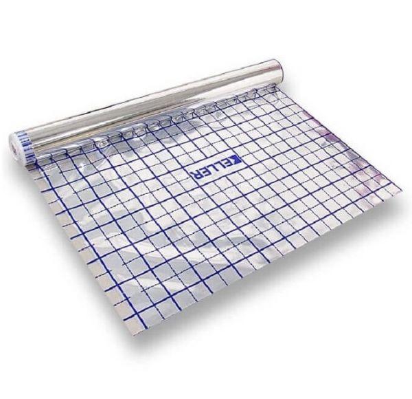Rasterfolie für Fußbodenheizung - Alufolie Fußbodenisolierung 210010