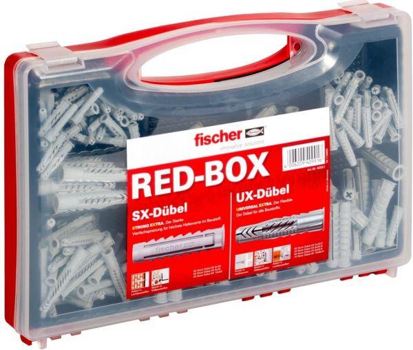 FISCHER UX/SX Sortimentsbox Red-Box für zahlreiche Baustoffe und vielfältige Anwendungen 290Teile
