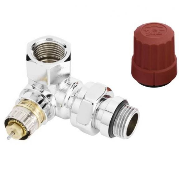 Thermostatventil Winkeleck rechts 1/2'' DANFOSS RA-NCX chrom 013G4239