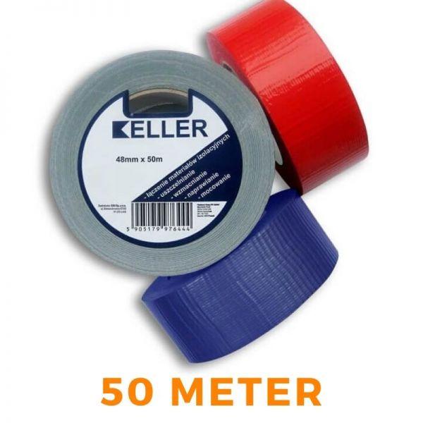 Klebeband KELLER 603 PCV für PE Rohrisolierung Isolierschlauch - rot / blau / grau