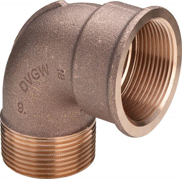 Viega Rotguss Winkel 90° IG/AG 1/2 Zoll bis 1 Zoll