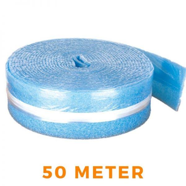 Randdämmstreifen Dilatation selbstklebend für Fußbodenheizung - blau 150x8mm 50m