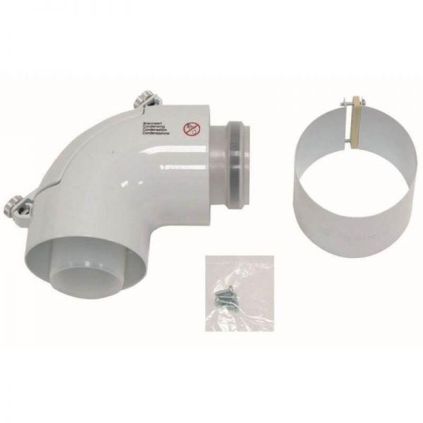 VAILLANT Bogen 87° Grad mit Revisionsöffnung, konzentrisch 60/100mm - Abgassysteme 303916