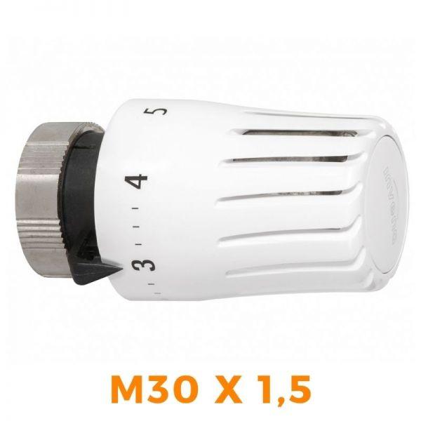 Thermostatkopf Thermostat Heizkörper Heizung INVENA Mini Prov weiß M30X1,5