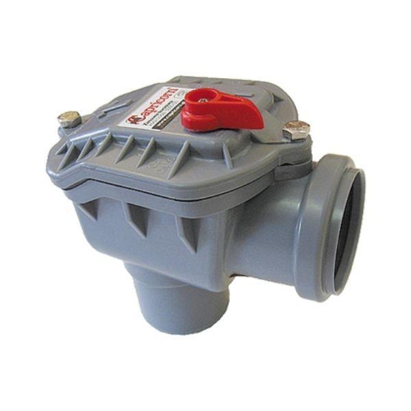 Rückstauverschluss CAPRICORN DN50 50mm ECK Rückstauklappe selbstschließend Rattenschutz