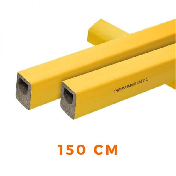 Eckige Rohrisolierung ThermaSmart ENEV-Q 100% für Fußbodenheizung 150cm