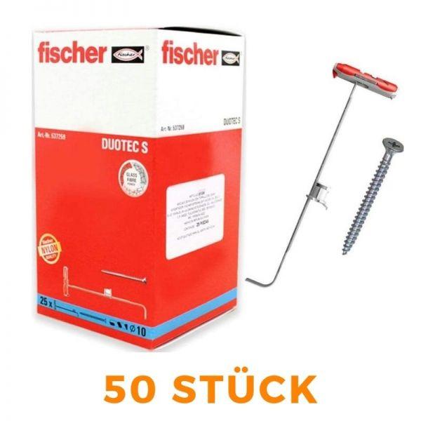 FISCHER Dübel DUOTEC 10S (25 Dübel + 25 Schrauben) - 537259