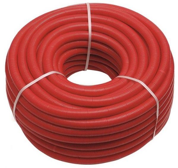Wellrohr 50M Leerrohr für Fußbodenheizung Rot 18mm